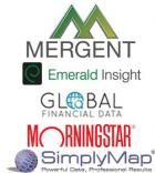 Mergent, Emerald Publishing Group, Global Financial Data, Morningstar Inc., SimplyMap
