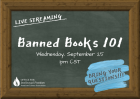 Banned Books 101 with chalkboard background