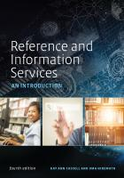 "book cover for the new fourth edition of ""Reference and Information Services: An Introduction"