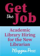 Get the Job cover with black background behind the title on top and subtitle over a light blue background on bottom half