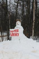 """Vote Yes"" snowman"
