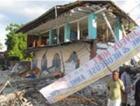 Damaged library in Haiti