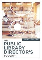 book cover for The Public Library Director's Toolkit