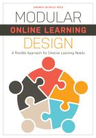 book cover for Modular Online Learning Design: A Flexible Approach for Diverse Learning Needs