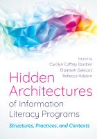 Hidden Architectures of Information Literacy Programs cover with multicolored squiggle at the top