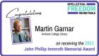Martin Garnar, recepient of the 2021 John Phillip Immroth Memorial Award