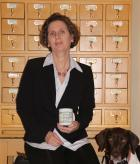 Picture of Doctor June Abbas and her dog Hunter
