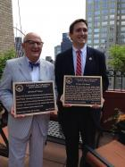 From left: Rocco Staino, director of Empire State Center for the Book, and New York City Councilman Ben Kallos.