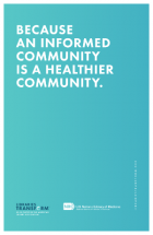 Because an informed community is a healthier community image