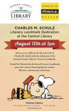 Sonoma County (Calif.) will host a Literary Landmark dedication in honor of Charles M. Schulz.