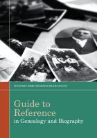 """Guide to Reference in Genealogy and Biography"