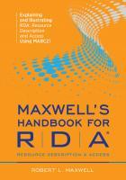 Maxwell's Handbook for RDA