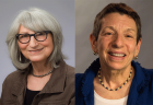 Eleanor Mitchell and Barbara Watstein, winners of the Isadore Gilbert Mudge Award