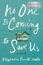 """""""No One Is Coming to Save Us"""" with the Book Club Central seal"""