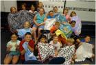 Plymell Elementary 3rd graders are happy to share the fleece and embroidered flannel blankets they stitched.