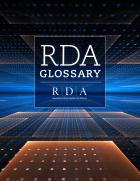 """book cover for print """"RDA Glossary"""""""