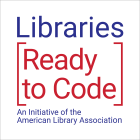 Libraries Ready to Code logo in blue and red
