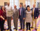 From left: Constance Myers; Christopher Myers; Rocco Stain, director, Empire State Center for the Book; Jon Coleman, executive director, Children's Book Council; Peter Ruffner; Junelle Carter-Bowman, manager, George Bruce Library); Rick Ruffner.
