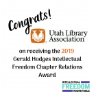 Congratulations Utah Library Association