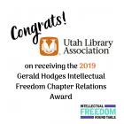 Congratulations Utah Library Association