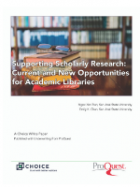 Supporting Scholarly Research:  cover