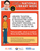 Gene Luen Yang National Library Week Print PSA