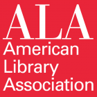 ALA American Library Association white text in red box