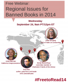 Free webinar: Regional Issues for Banned Books Week 2014