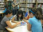 "Buda (TX) Public Library patrons playing ""Tapple"" on International Games Day"