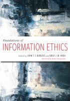 "book cover for ""Foundations of Information Ethics"""
