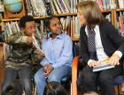 Students at Seattle's Sanislo Elementary School share poetry with National Library Week Honorary Chair Caroline Kennedy