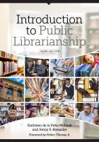book cover for Introduction to Public Librarianship, Third Edition