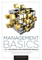 book cover for Management Basics for Information Professionals, Fourth Edition
