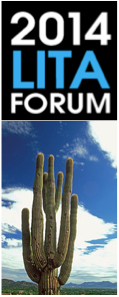 2014 LITA Forum logo and cactus picture