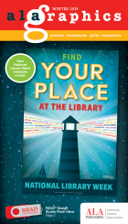 ALA Graphics Winter 2019 Catalog featuring 2020 National Library Week Poster