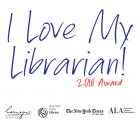 I Love My Librarian Award Logo with Sponsors