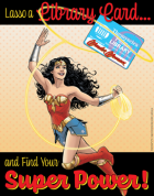 Wonder Woman lasso a library card poster image