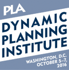 PLA Dynamic Planning Institute logo - Washington DC - October 5-7, 2016