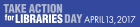 Take Action for Libraries Day Web Banner