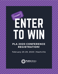 Enter to win PLA 2020 Conference registration! February 25–29, 2020 in Nashville, TN