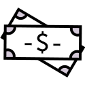 Stylized image of paper currency
