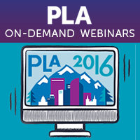 PLA 2016 Rewind: Post-Conference Webinar Series On-Demand logo