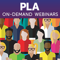 Racially diverse audience image for PLA On-Demand Webinars