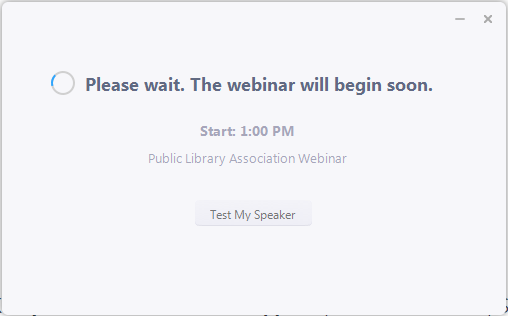 PLA Webinar and Online Meeting Technical Support | Public