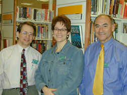 image of bob blanchard, roberta johnson, and hector marino
