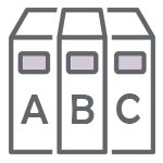 Image of book spines marked A, B, C