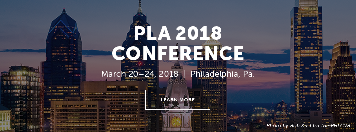 PLA 2018 Conference - March 20-24, 2018 - Philadelphia, PA - Learn more at http://www.placonference.org - Photo by Bob Krist for the PHLCVB