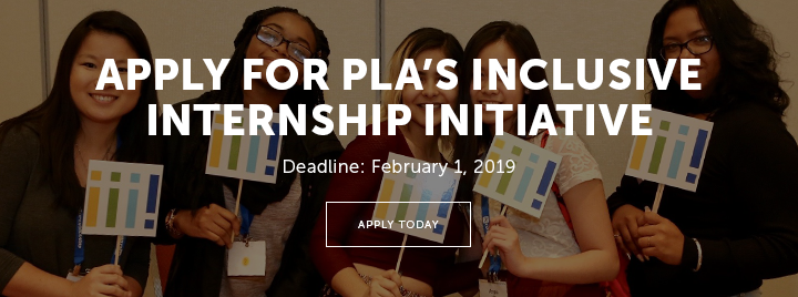 Apply for PLA's Inclusive Internship Initiative - Deadline: February 1, 2019 - Learn more and apply today at http://www.ala.org/pla/initiatives/plinterns