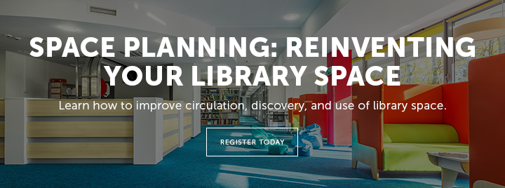 Space Planning: Reinventing Your Library Space - Learn how to improve circulation, discover, and use of library space. - Register today at http://www.ala.org/pla/education/inperson/space