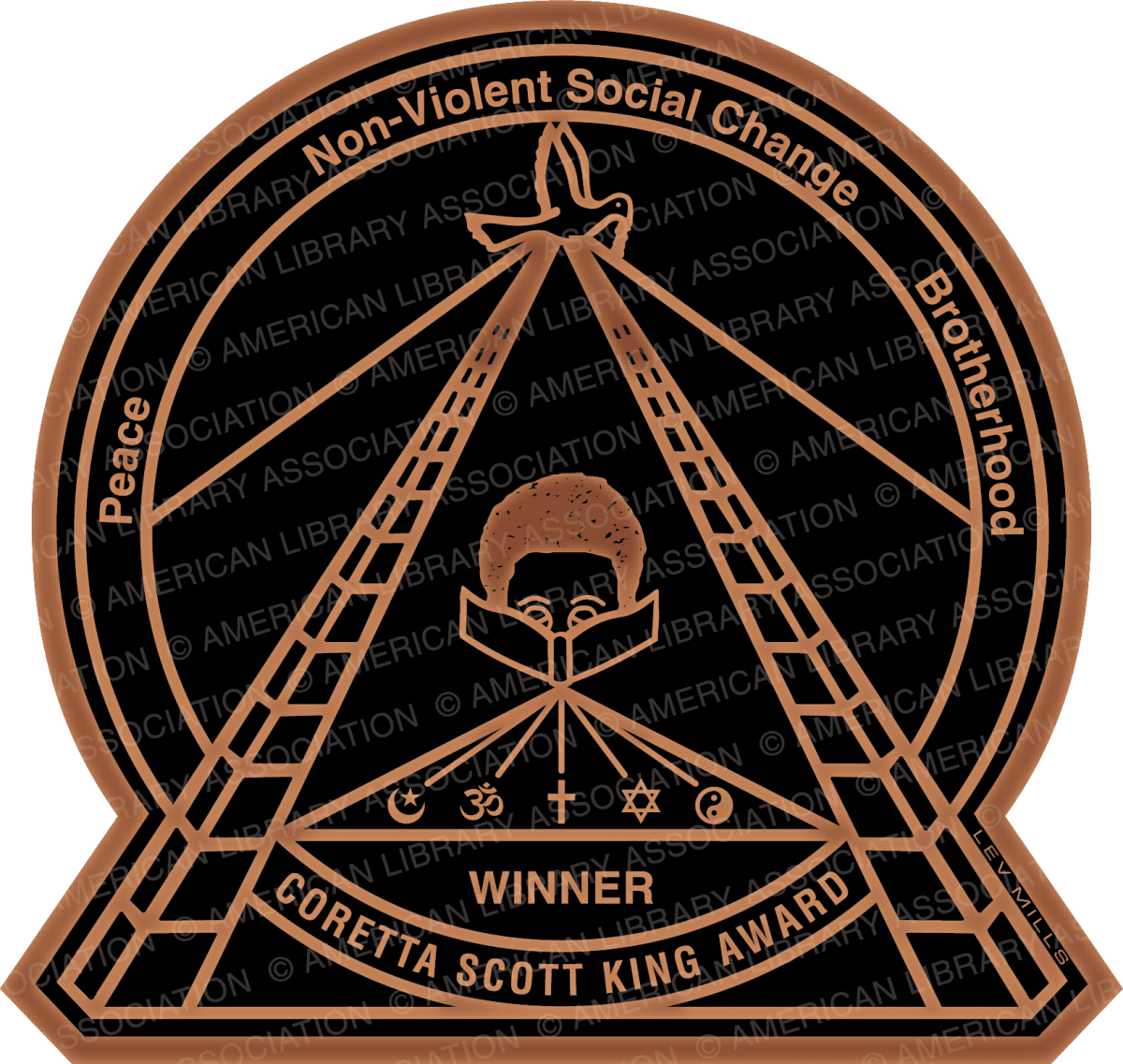 coretta scott king book awards seal
